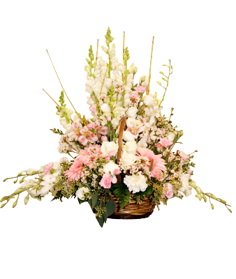 Wicker Basket Mixed Flower Large